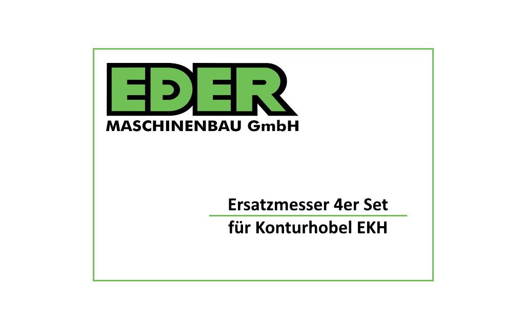 Ersatzmesser (4er Set) für EDER Konturhobel EKH