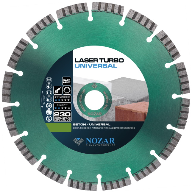 Nozar Dia-TS 230x22,23mm Diamanttrennscheibe Laser Turbo Universal Basic-Line