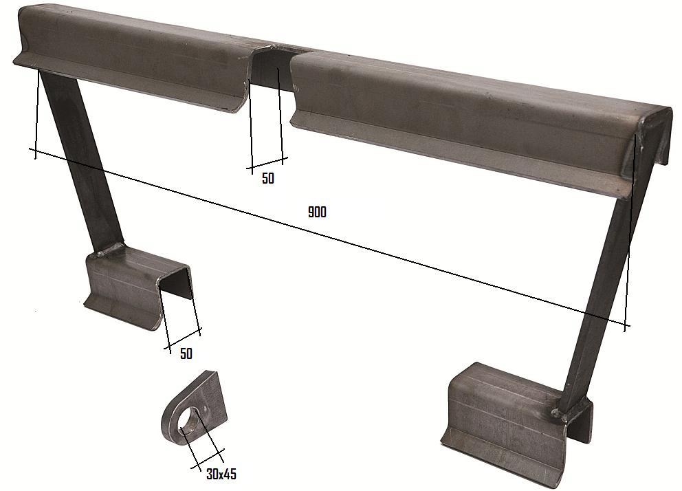 Koppelrahmen für Schäffer Hoflader (50mm Schiene)