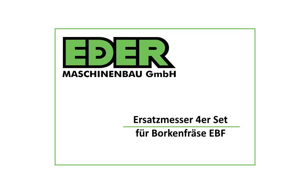 Ersatzmesser (4er Set) für EDER Borkenfräse / Borkenkäferfräse EBF