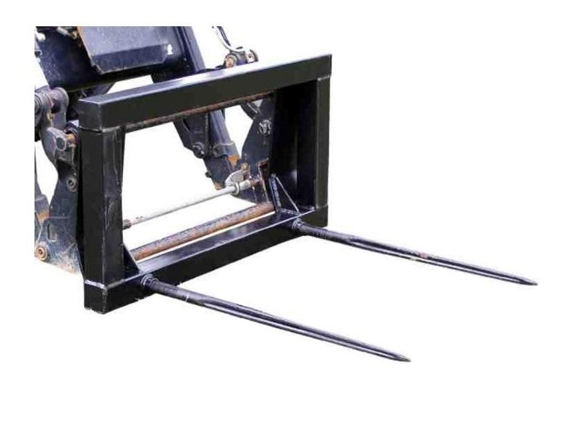 Ballengabel - Ballentransportgabel, Euro-Aufnahme mit 2 Zinken in 810 oder 1100mm