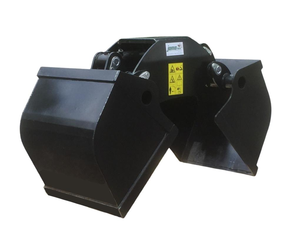 Schalengreifer inkl. Flansch, Zweischalengreifer,  Greiferschaufel mit 160L oder 200L Volumen