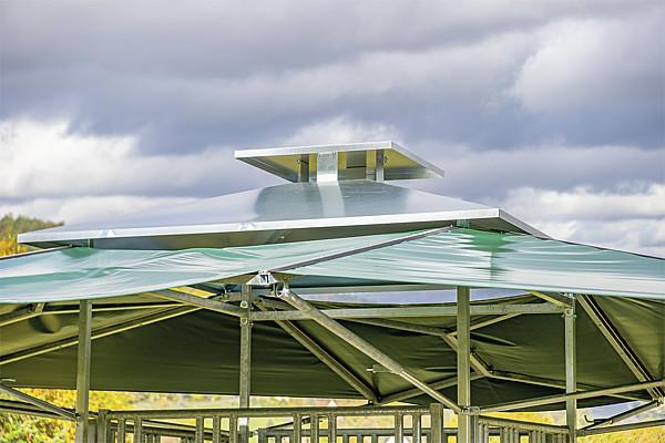 Dach für PATURA Klima-Raufe - Sonnenschutz - Wetterschutz - Dachkonstruktion